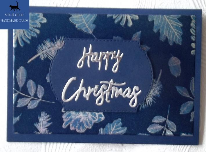 Navy Happy Christmas Card