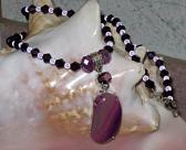 Botswana Purple Lace Agate Necklace