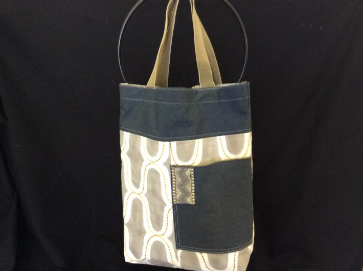 Fabric lined tote bag