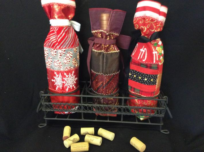 Ribbon wine or bottle gift bags