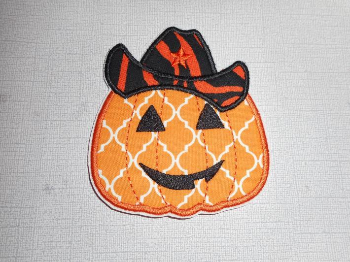 Halloween Pumpkin Cowboy