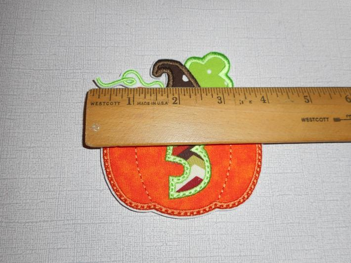 pumpkin number 3 patch free shipping