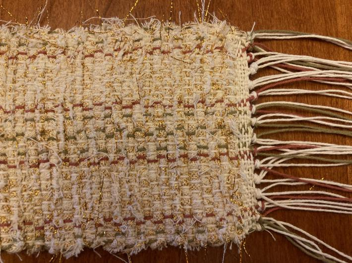 Woven Table Scarf Runner 3x25