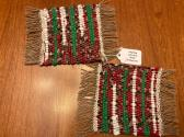Christmas Mug Rug set of 2