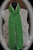 Lime Green Camel Stitch Scarf