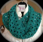 SOLD Jade Green Box Infinity Scarf