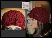 Burgundy Hipster Hat
