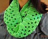 Lime Green Box Infinity Scarf