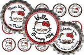 Hell No Grumpy Kitty Digital Bottle Cap Images 288