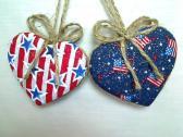 Americana Hearts or Patriotic Decor