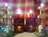 Protected Dead Glass Candle Holder Set