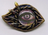 Purple Eye Pin Brooch