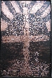 Acid Etched Rugged Cross Copper Art