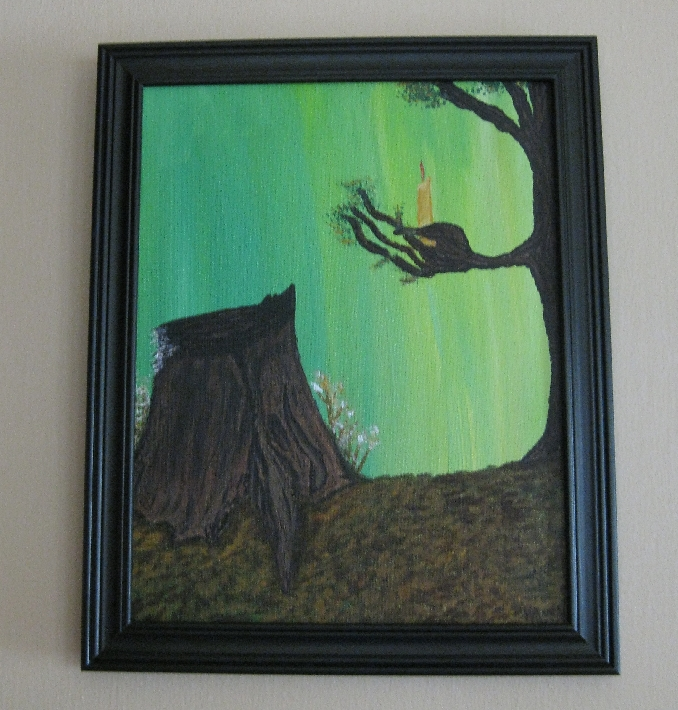 Light A Candle for Me Eco Friendly Painting