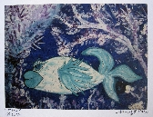 Flow the Blue Heart Lipped Fish Artist Print