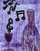 Music in My Glass Original Painting