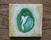 Tiny Abstract Bright Yellow Green Free easel