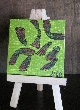 Seed Pods Bright Mini Painting with free Easel