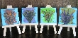 Bright Quad Set 4 Mini Paintings free easels