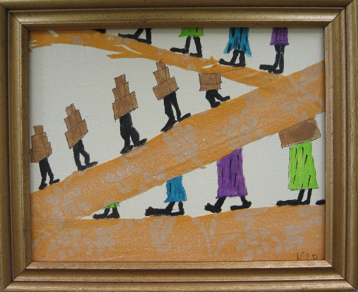 Movin Mixed Media Original Painting