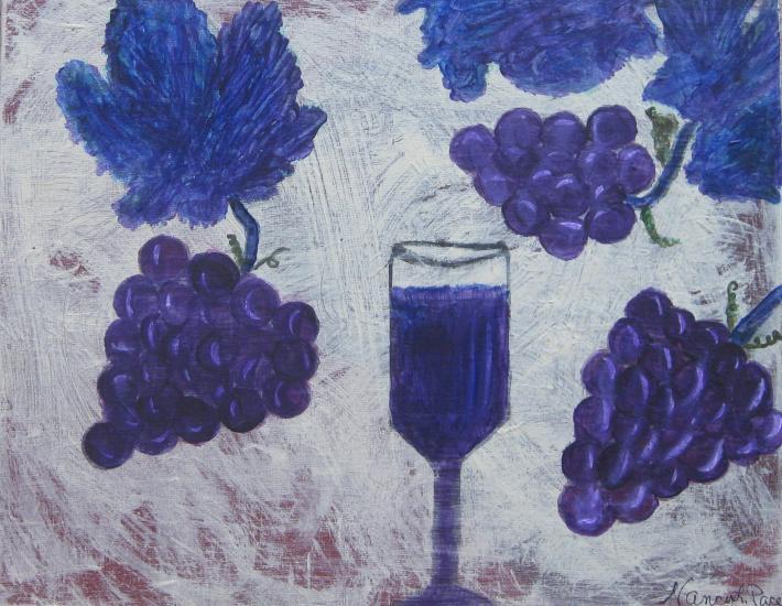 My Grape Nectar Original Painting