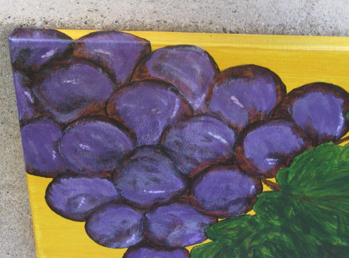 Purplest Purple Original Grape Painting