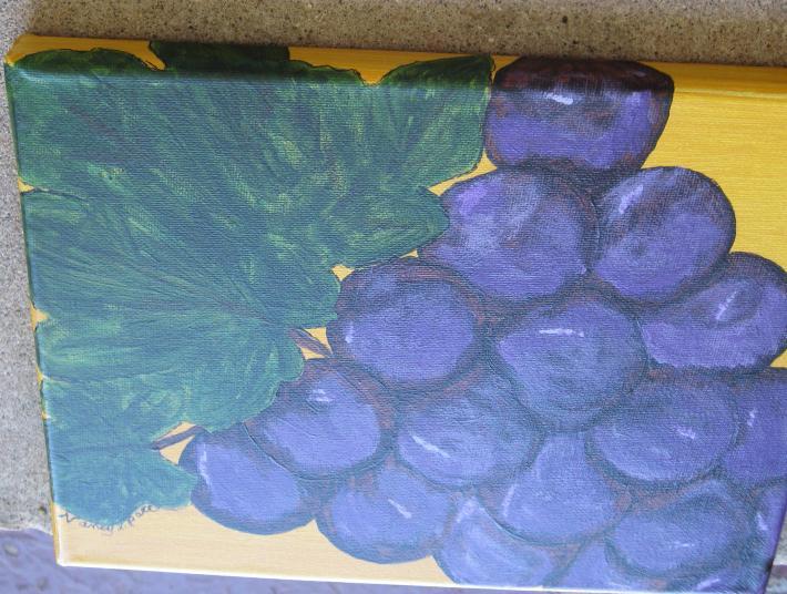 Purplest Purple Original Grape Painting
