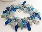 Blue Floral Bracelet
