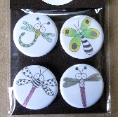 Dragonfly Lovers pins and magnets