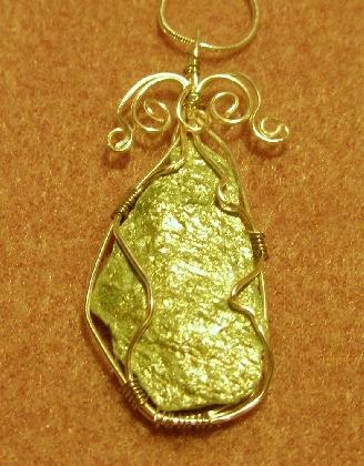 Fuschite and silver necklace
