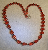 Red and black Tear drops Swarovski necklace