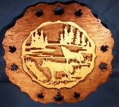 Howling Wolves Scenic Collectors Plate