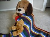 Childs Multi Colored Afghan Handmade in the USA