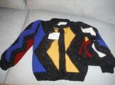 childs colorful cardigan and cap