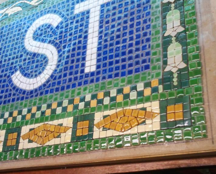 nyc subway mosaic tile install for bathroom kitchen