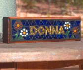 Mosaic Name Desk Plaques for your office