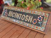 Custom Mosaic Sign Plaque Name or Address House signs Indoor or outdoor  Great Gifts