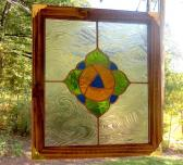 Stained Glass Poppy Panel  Victorian Inspired Poppy Suncatcher