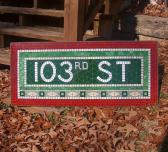 NYC Subway Mosaic Glass Sign 103rd St New York City Install