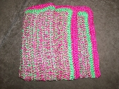 Hot Pink and Lime Green Baby Blanket or Adult Lap Blanket with Free Shipping