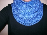 Blue Neck Cowl Infinity Scarf with Free Shipping