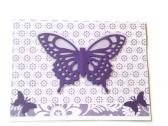 Layered Lavender Note Card with Butterfly