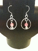 Hoop Earrings - Pink
