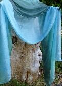 Ocean Wave Silk Shawl or Veil