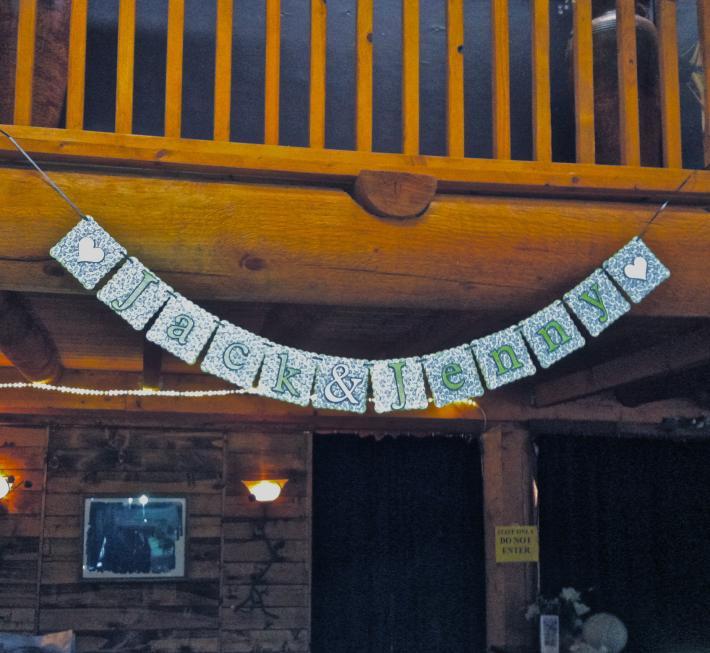 Bride and Groom wedding banner