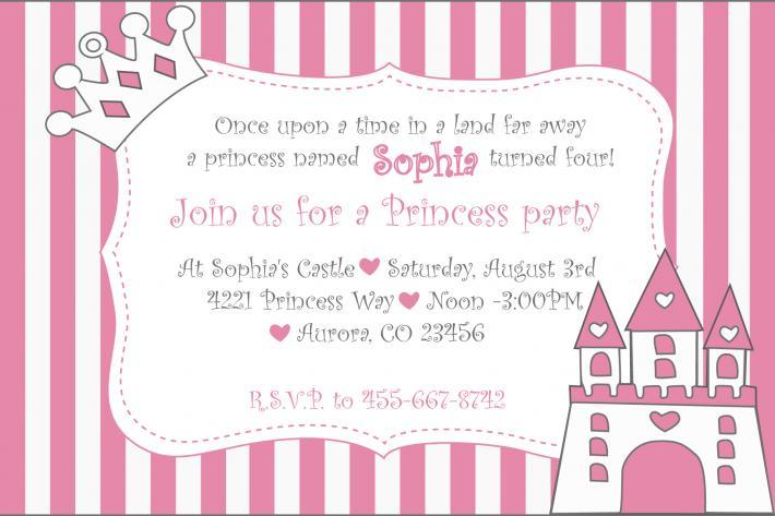 Princess Castle Invitation