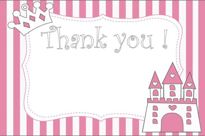 Princess Castle Thank you card