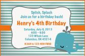 Whale Birthday Invitation