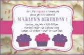 cupcake Icing Birthday Invitation