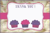 cupcake icing thank you card